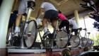 picture of a spin class in progress