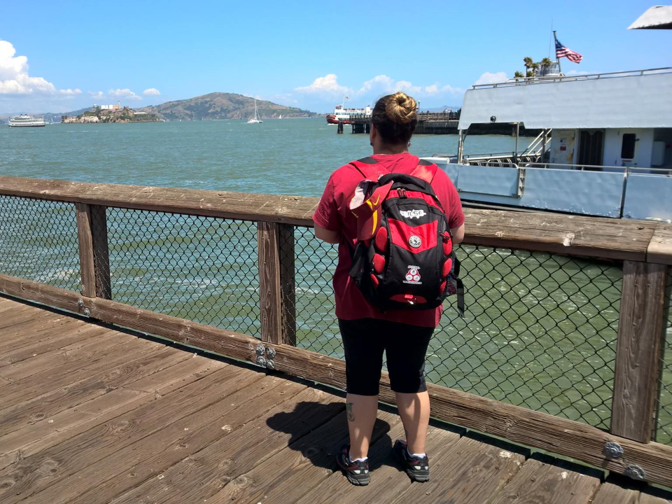 Wendy Durkan standing on Fisherman's Wharf in San Francisco