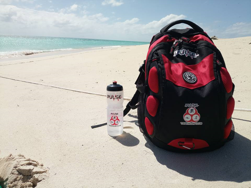 Pulse bag and bottle on a beach - Carlos Nunos: Michaelmas Cay, Queensland, posted 13 August 2017.