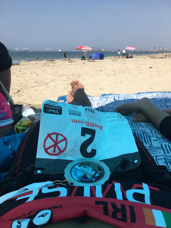 Pulse jersey on beach - Mike Gonda, Long Beach, California, posted 16 July 2017