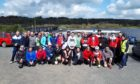 Group photo of bike time trial participants