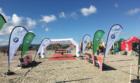 Finish line at the Base2Race Pulse Aquathlon 2018